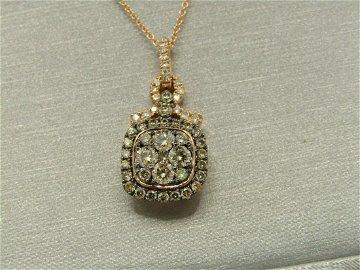 "Effy Rose Gold Cognac & White Diamond Necklace, 18"","