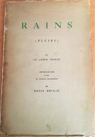 1945 St. John Perce 'Rains' Signed 1st Edition