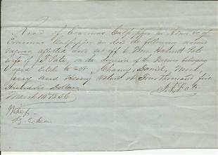 1856 Alabama Slave 'Bill of Sale'