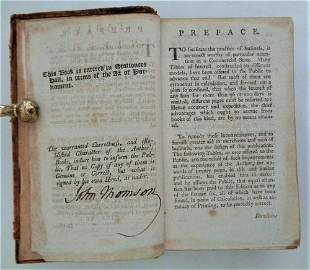 Tables of Interest, At 3, 4, 41/2, & 5%- Signed 1804