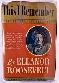 1949 Eleanor Roosevelt Signed 1st Edition