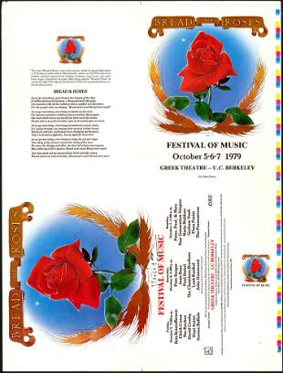 Signed AOR 4.85 Bread And Roses Festival Of Music Proof