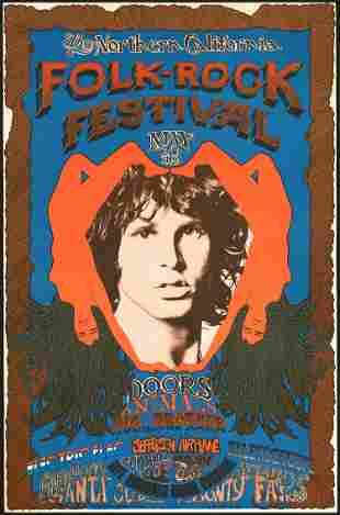 Original Northern California Folk-Rock Festival Poster