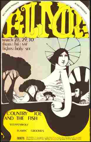 Scarce BG-113 Country Joe And The Fish Poster