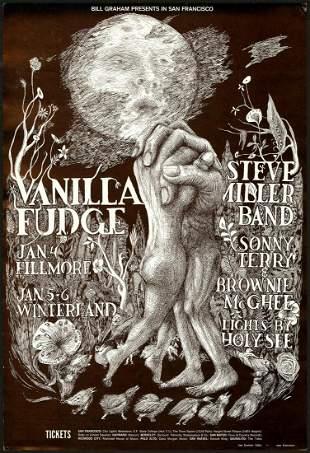Second Print BG-101 Vanilla Fudge Poster