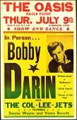 Rare 1959 Bobby Darin Window Card