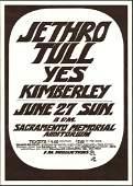 Jethro Tull Concert Poster