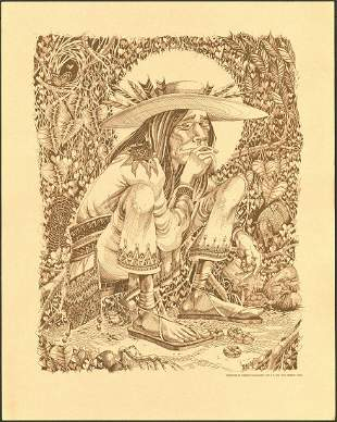 Rick Griffin Mescalito Indian Poster
