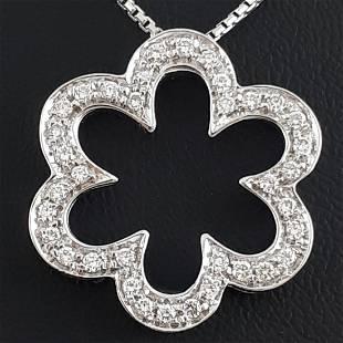 18K White Gold - Necklace & Pendant Set