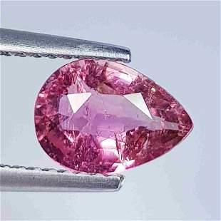 1.42 ct Natural Pink Tourmaline Pear cut