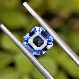 1.66 Ct Weight Square Emerald Shaped Blue Color
