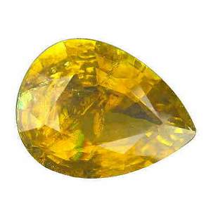 6.02 ct natural certified yellow copper tourmaline