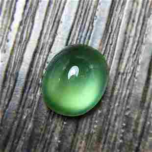 Natural Oval Cut 5.2 Carats Prehnite Loose Gemstone