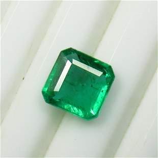 2.87 Ct Natural Zambian Emerald Square Octagon Cut