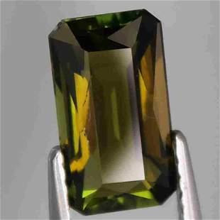 attractive color! natural yellowish green tourmaline