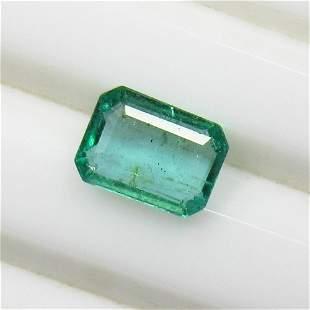 1.23 Ct Natural Zambian Emerald Octagon Cut