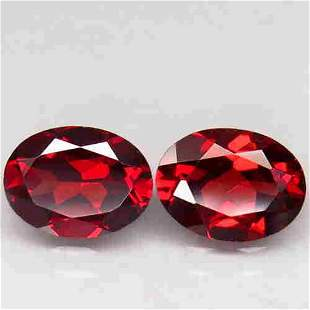 pair! natural pink red garnet-2,80 ct 1,2