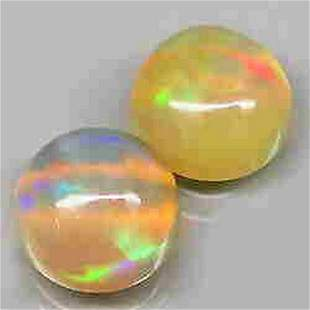 pair! Natural Multi Color White Opal-2,10 ct 1,2,3