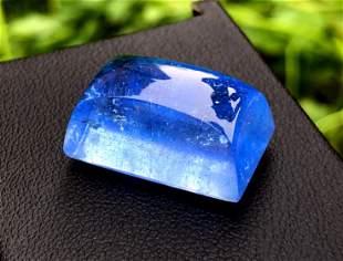 Natural Blue Aquamarine Cabochon - 30.45 cts , 21*13*11