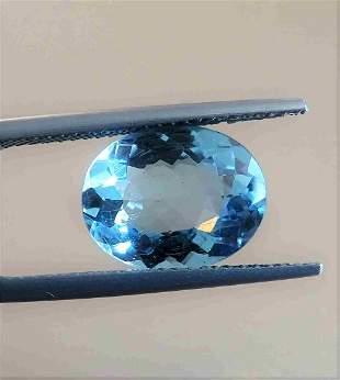 Aquamarine Certfied - 3.49 ct
