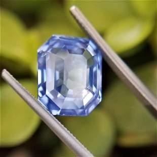 6.74 Ct Weight Emerald Shaped Blue Color Berberyn