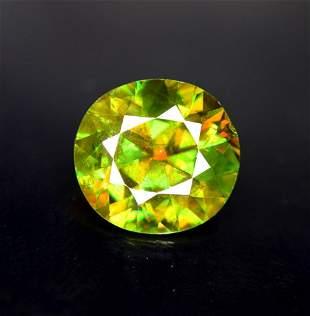 Natural Chrome Sphene Loose Gemstone - 4.30 cts ,