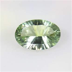 6.98 Ct Natural Green Amethyst Concave Cut
