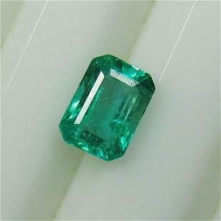 0.96 Ct Natural Zambian Emerald Oval Cut