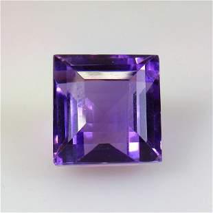 23.55 Ct Natural Purple Amethyst Square Cut