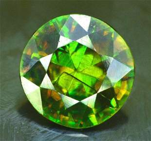 2.40 cts Top Quality Rare Full Fire Green Sphene