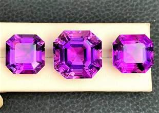 Natural Amethyst Loose Gemstone Set - 93.70 Carats -