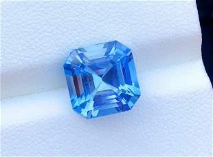 Color Aquamarine Gemstone - 4.75 cts , 11*10*07 mm