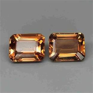pair! natural imperial topaz-8,10 ct 1,2