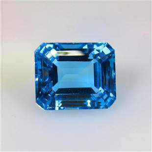 21.24 Ct Natural Blue Topaz Octagon Cut