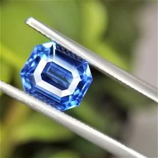2.07 Ct Weight Emerald Shaped Blue Color Berberyn