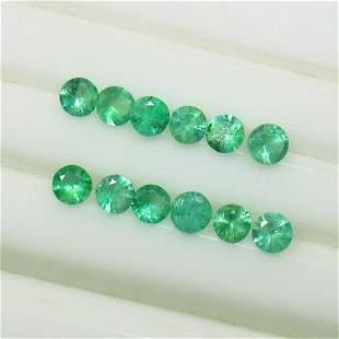 10.29 Ct Natural 86 Zambian Emerald Round Lot