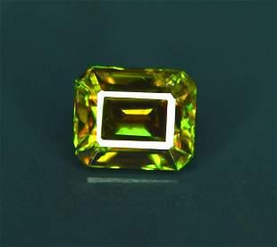 Natural Chrome Sphene Gemstone - 2.85 cts , 09*07*06 mm