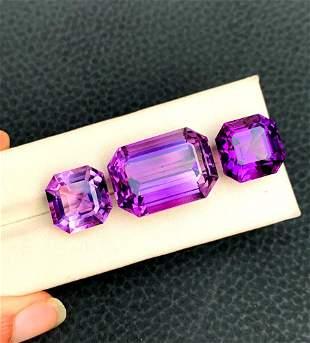 Natural Amethyst Loose Gemstone Set - 57.35 Carats -