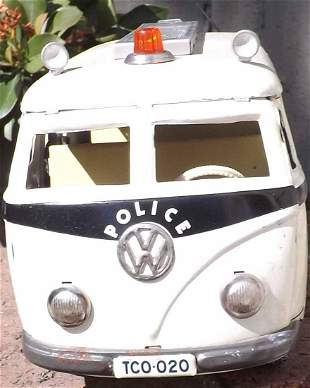 Tippco WV police bus TCO-020, made in Western Germany