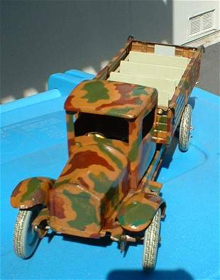1938 Tippco windup military truck, Made in Germany,