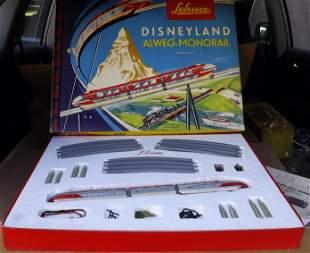 Schuco Disney monorail 6333G , Made in Germany 1959,c9.
