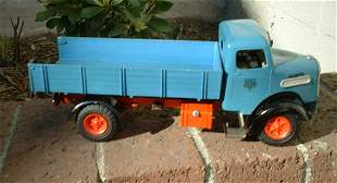 """Arnold """"MAN"""" tipper truck, Made in Germany, windup, c7."""