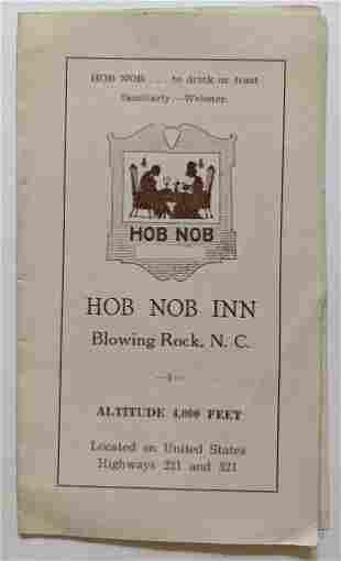 VINTAGE BROCHURE for HOB NOB INN in BLOWING ROCK North