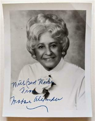 VINTAGE PORTRAIT OF FOUNDER signed BEST WISHES FROM
