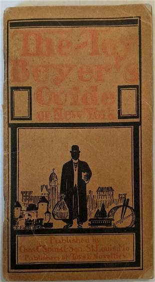 1911 NEW YORK CITY NY TOY BUYER s GUIDE w