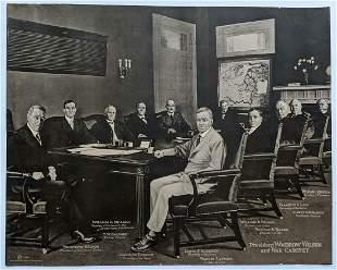 OLD ca. 1920 US PRESIDENT WOODROW WILSON WWI WAR