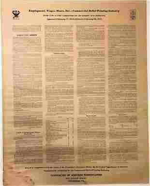 1934 BROADSIDE PRESIDENT ROOSEVELT FDR EXECUTIVE ORDER