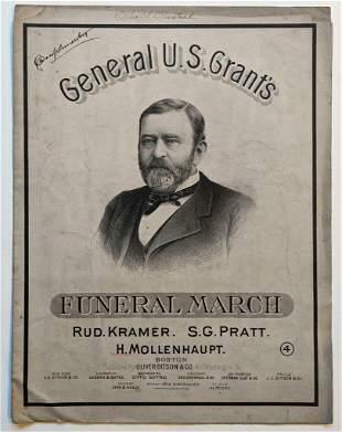 1885 GENERAL U. S. GRANT FUNERAL MARCH Pub. OLIVER