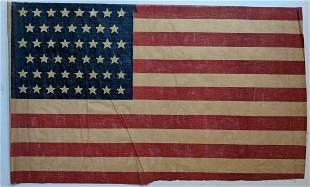 "BIG 36 x 21.75"" c.1908 VINTAGE 46 STAR US AMERICAN"
