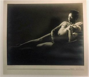 UNCOMMON c 1950 s ART PHOTOGRAPH, NUDE AFRICAN AMERICAN